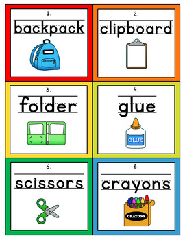 Back to School Handwriting Scoot or Write the Room