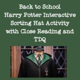 Back to School Harry Potter Sorting Hat Online Interactive Activity