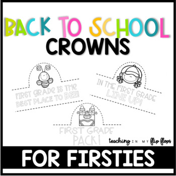 Back to School Hats Crowns: 1st Grade