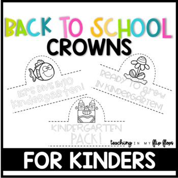Back to School Hats: Kindergarten