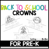 Back to School Hats: Pre-K