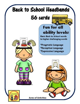 Back to School Headbands  Game Pragmatic Language
