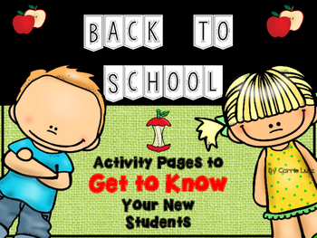 Back to School ~ Hello!  Who are You? Getting to Know Your Students