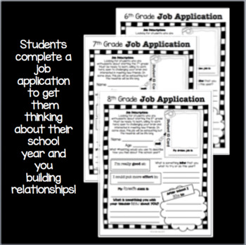 Back to School Help Wanted (Middle School): Getting to Know You