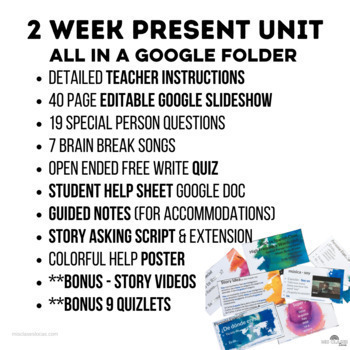 High Frequency Verbs Unit (Super 7 present) - Novice Spanish