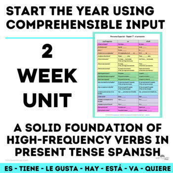 High Frequency Verbs Unit (present) - Novice Spanish