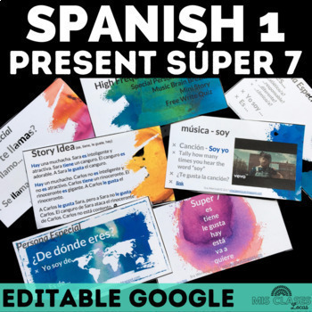 High Frequency Verbs Unit (present) - Novice Spanish - Distance Learning