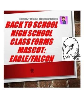 Back to School High School Printables Kit: Mascot- Eagles