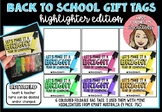 Back to School Highlighter Gift Label