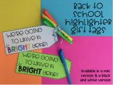Back to School Highlighter Gift Tags