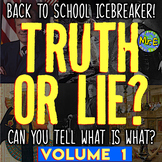 Back to School Historical Truth or Lies | Volume 1 | Tradi