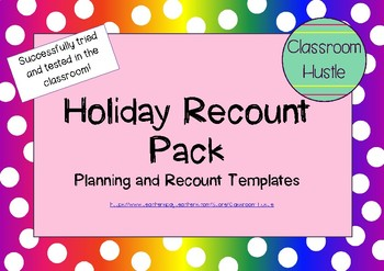 Back to School Holiday Recount Pack!