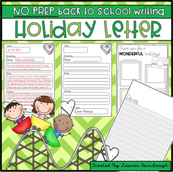 Back to School Holiday Writing