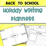 Differentiated Holiday Writing Planners *Back to School*