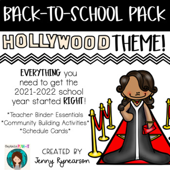 Back-to-School Hollywood Pack! Teacher Binder, Activities, & Schedule Cards!