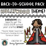 Back-to-School Hollywood BUNDLE! Teacher Binder, Activities, & Schedule Cards!