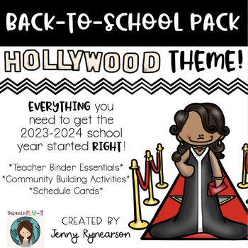 Back-to-School Hollywood Pack! Teacher Binder, Activities,