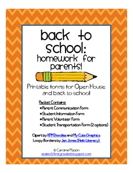 Back to School: Homework for Parents!