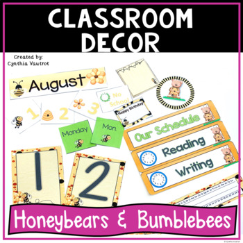 Back to School Classroom Decorations - Honeybears & Bumblebees
