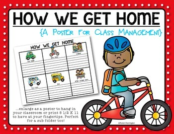 Back to School {How We Get Home} Poster for Dismissal