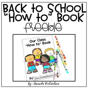 """Back to School """"How to...at School"""" Book"""