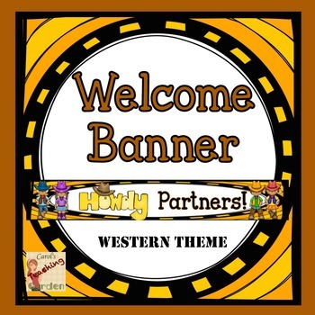 Back to School Howdy Partner Western Welcome Banner