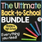 Back to School Bundle   Editable for Language Arts Middle and High School