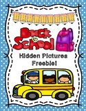 Back to School Hundreds Chart Hidden Picture Freebie