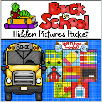 Back to School Hundreds Chart Hidden Picture Packet