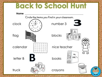 Back to School Hunt
