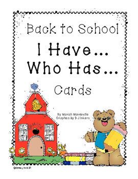 Back-to-School I Have... Who Has... Cards