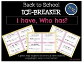 Back to School I Have, Who Has Ice Breaker
