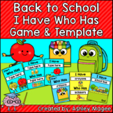 Back to School I Have, Who Has Ready-to-Print Game and Edi