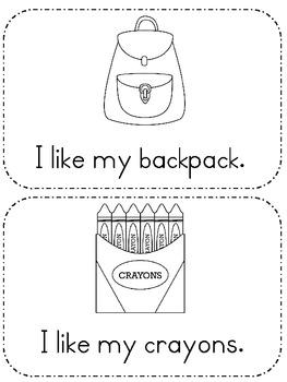 Back to School: I Like Emergent Reader