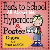 Back to School I Like Me! Hyperdoc and Poster
