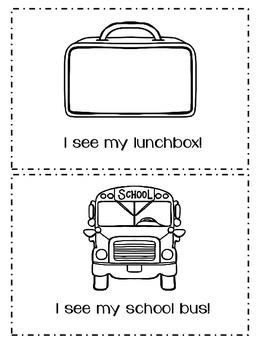 "Back to School ""I See"" Emergent Reader!"