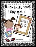 Back to School, I Spy Math