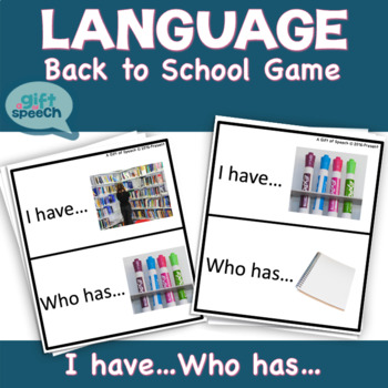 All About School I have Who Has? for speech therapy & moderate severe Life Skill