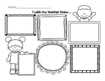 """Back to School- """"I wish my teacher knew..."""" **50 Follower Freebie!**"""