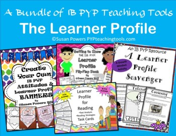 Back to School IB PYP Learner Profle and Attitudes Flip Flap Books Bundle
