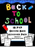 Back to School IB PYP Poster Activities- Focus on Theme, Concepts,Attitude.