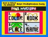 Back to School ICE BREAKER Multiplication DIGITAL Pixel Art