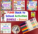 Back to School ICEBREAKER Games Activities BUNDLE Get to K
