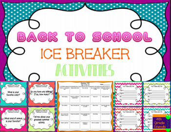 Back to School Ice Breaker Activities