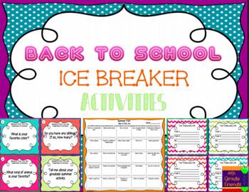 Back to School Ice Breaker Activities