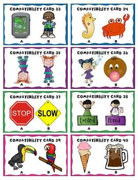 Back to School Ice-Breaker Activity 40 Compatibility Cards