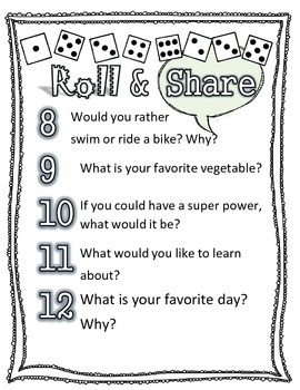 Back to School Ice Breaker Addition Get to Know you game