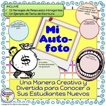 "Back to School Ice Breaker ""Autofoto"" in Spanish"