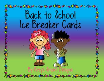 Back to School Ice Breaker Cards