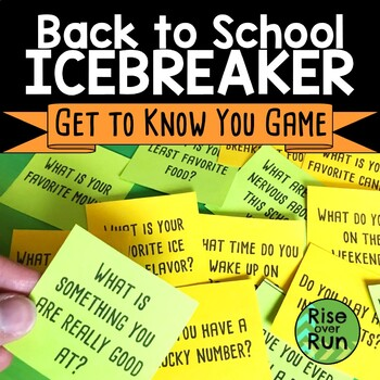 Back to School Ice Breaker Game, Get to Know You